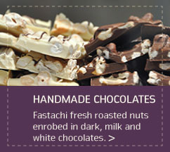 Handmade Chocolates with Almonds, Pistachios, Cashews, Cranberries & Walnuts