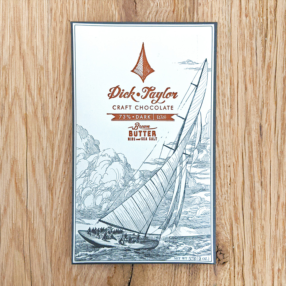 Dick Taylor Brown Butter Nibs & Sea Salt 73%