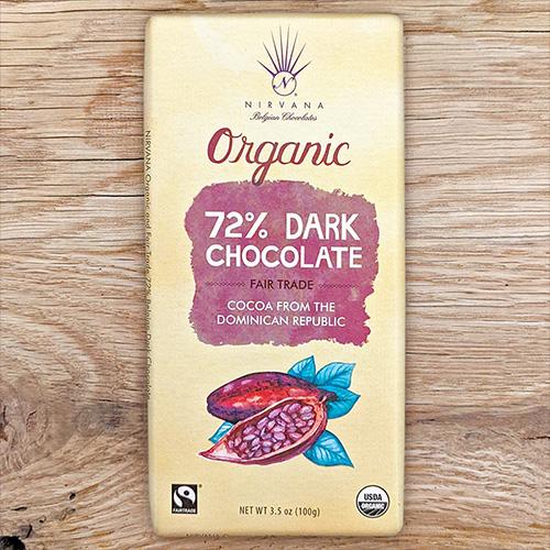 Nirvana Organic Dark 72%