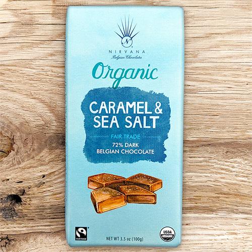 Nirvana Organic Dark Caramel Sea Salt 72%