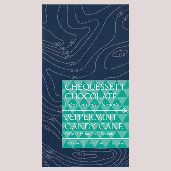Chequessett Chocolate Peppermint Candy Cane 70%
