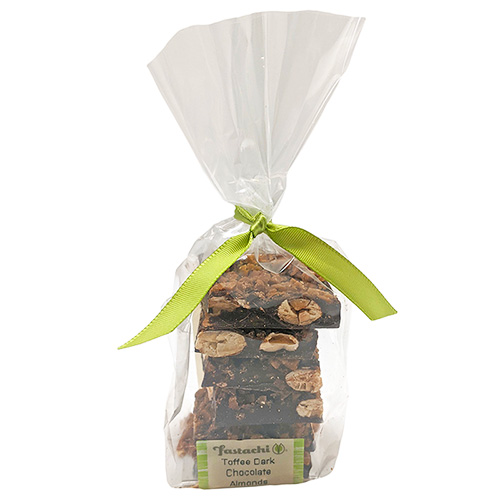 Toffee Dark Chocolate Almonds - Small Gift Bag