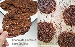 Chocolate Hazelnut Lace Cookie Recipe