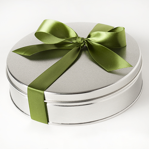 Hostess Harvest Gift Tin Small with Bow