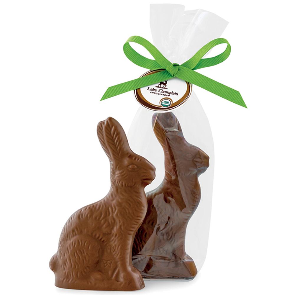 Lake Champlain Organic Solid Milk Chocolate Bunny