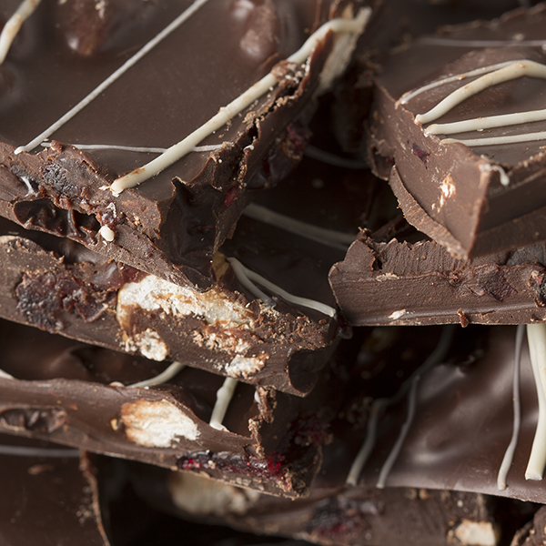 Dark Chocolate Walnut & Cranberry Bark