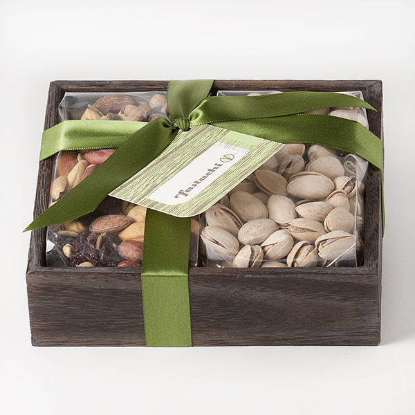 Duo Gift Tray - Harvest Nut Mix & Salted Pistachios