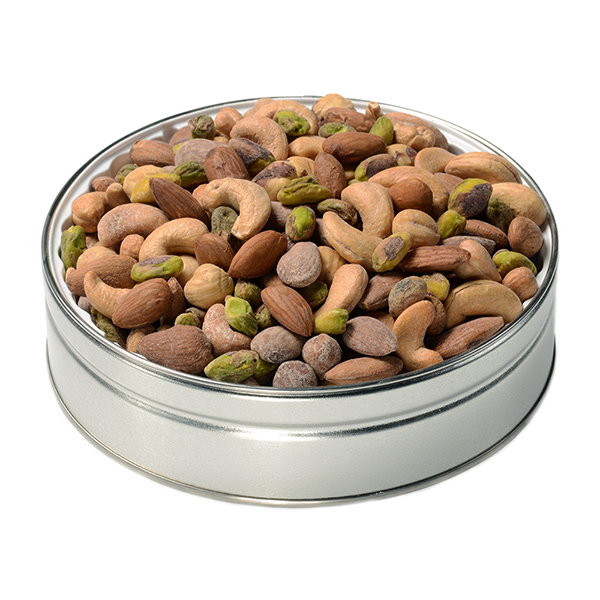 nut passion gift tin small super nut mix small gift tins fastachi