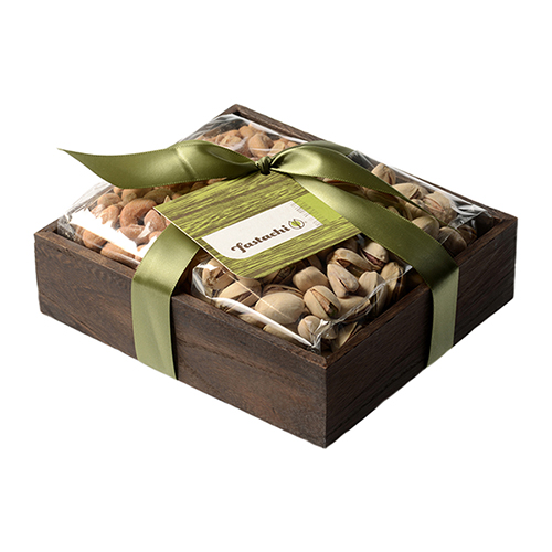 Duo Gift Tray - Salted Cashews & Salted Pistachios
