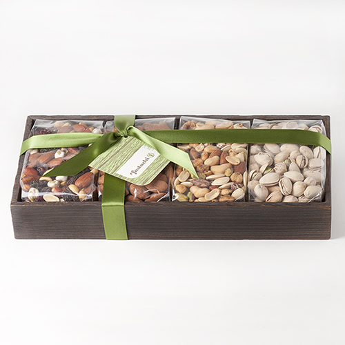 quattro-gift-tray-wasabi-nut-mix-almonds-pistachios-extra-nutty-mix-bow