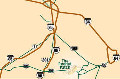 The Peanut Patch Gift Shop map