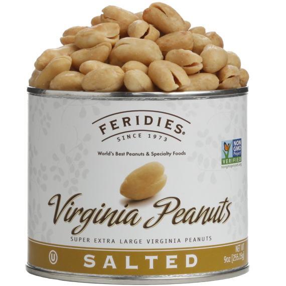 9oz Salted Virginia Peanuts