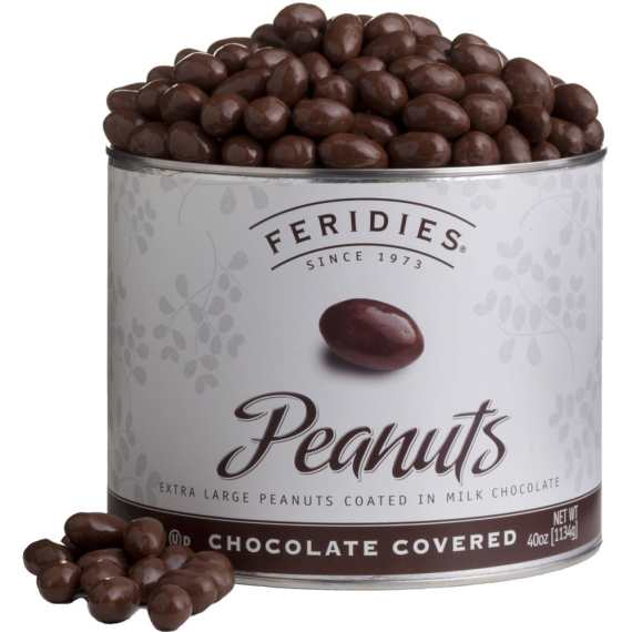 40oz Milk Chocolate Covered Virginia Peanuts