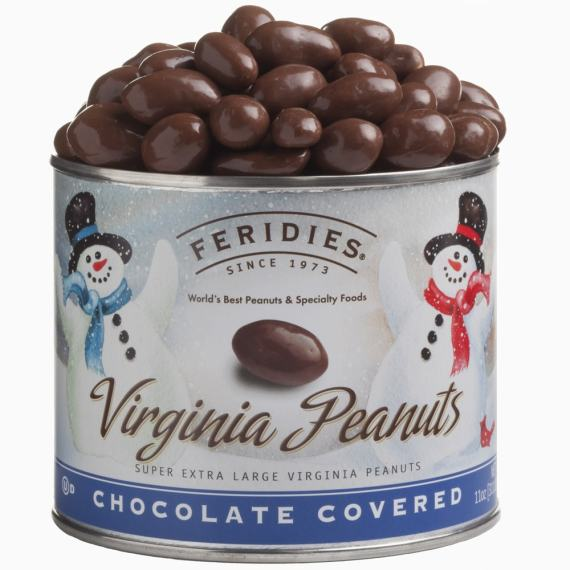 11oz Milk Chocolate Covered Peanuts-Snowmen
