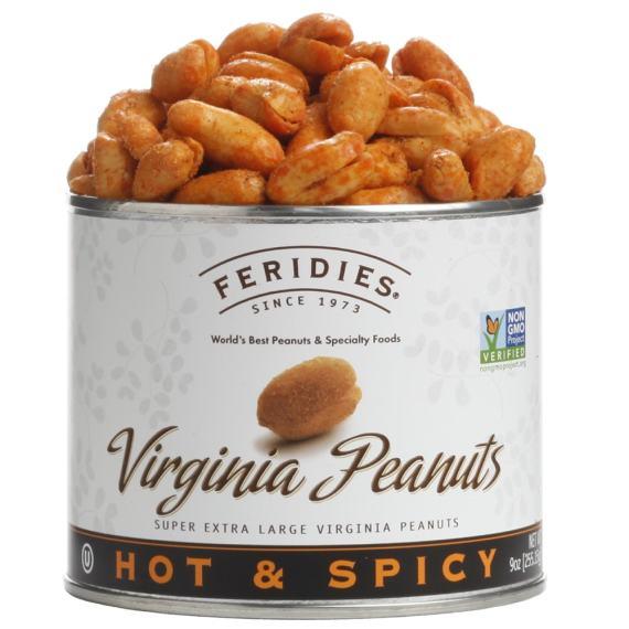 9oz Hot & Spicy Virginia Peanuts