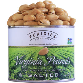 9oz Salted Peanuts-Harvest Label