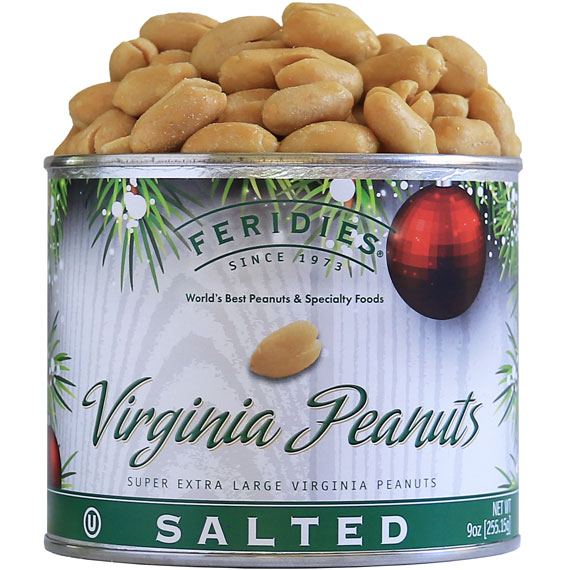 9oz Salted Peanuts-Holiday Ornaments