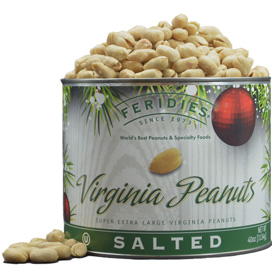 40oz Salted Peanuts-Holiday Ornaments