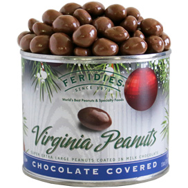11oz Milk Chocolate Covered Peanuts-Holiday Ornaments