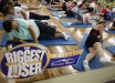 Guests work out before dawn at the Biggest Loser Resort in Ivins, Utah September 6, 2010. Guests at the resort affiliated with the popular reality television show work out in an aerobics room, a gym and a swimming pool for 6 to 7 hours each day. Picture taken September 6, 2010.    REUTERS/Rick Wilking (UNITED STATES - Tags: SOCIETY HEALTH ENTERTAINMENT) - RTR2I32U