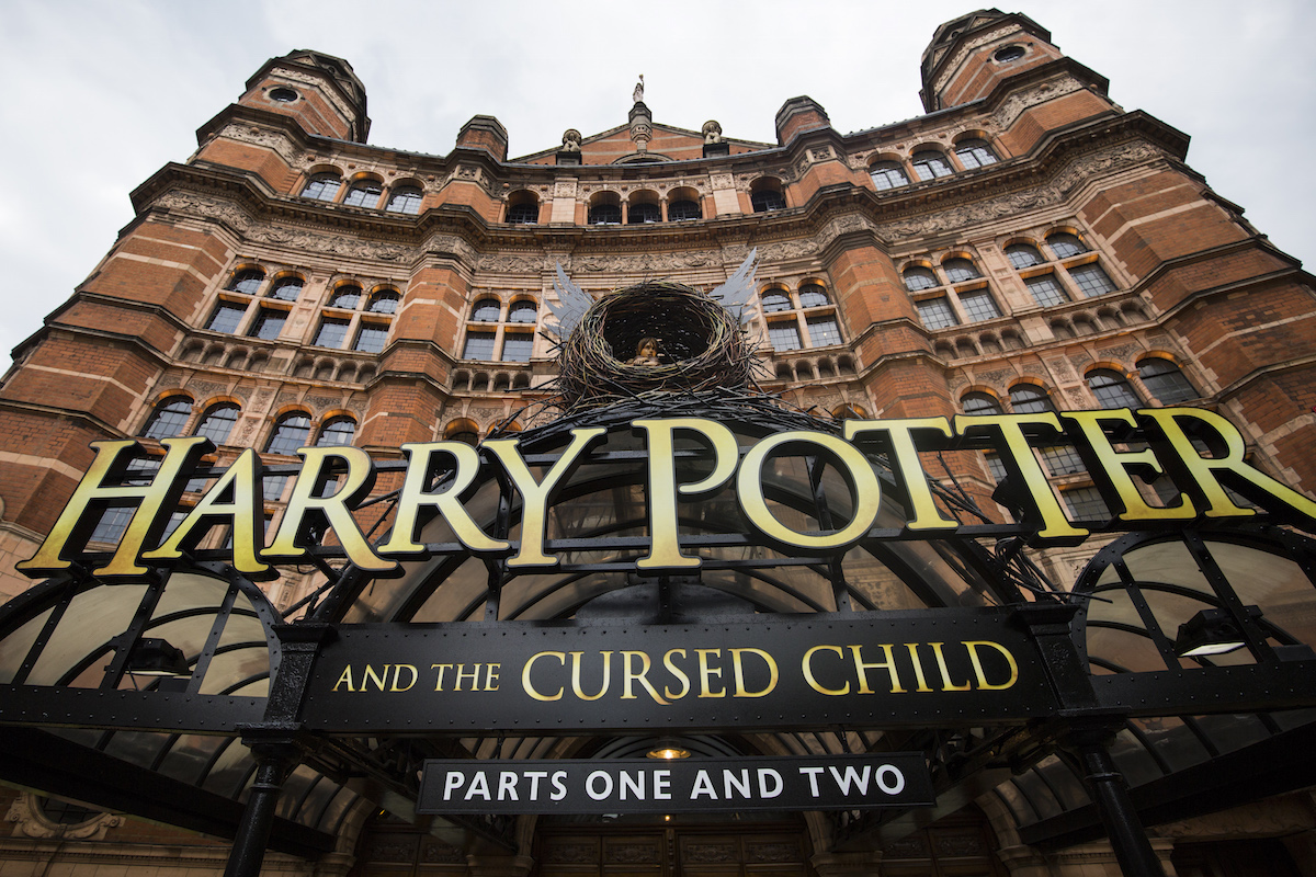 A general view of The Palace Theatre, following the first preview of the Harry Potter and The Cursed Child play last night, on June 8, 2016 in London, England. Jack Taylor/Getty Images