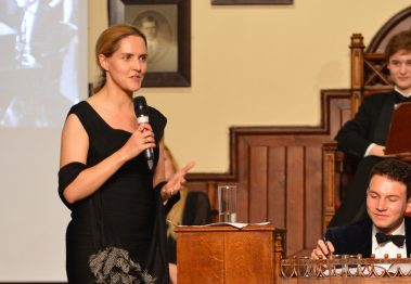 Louise Mensch takes part in a debate entitled 'Oxbridge Is A Finishing School For The Privileged' at The Cambridge Union on October 8, 2015 in Cambridge, Cambridgeshire.  Photo by Chris Williamson/Getty Images