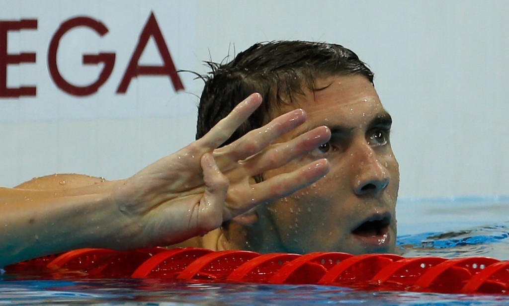 Michael Phelps after winning his fourth gold medal of the Rio Games. Gary Hershorn/Flipboard