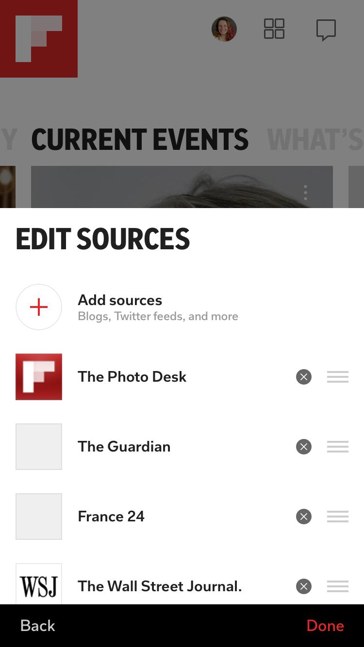 Edit Sources Custom Smart Magazine Flipboard
