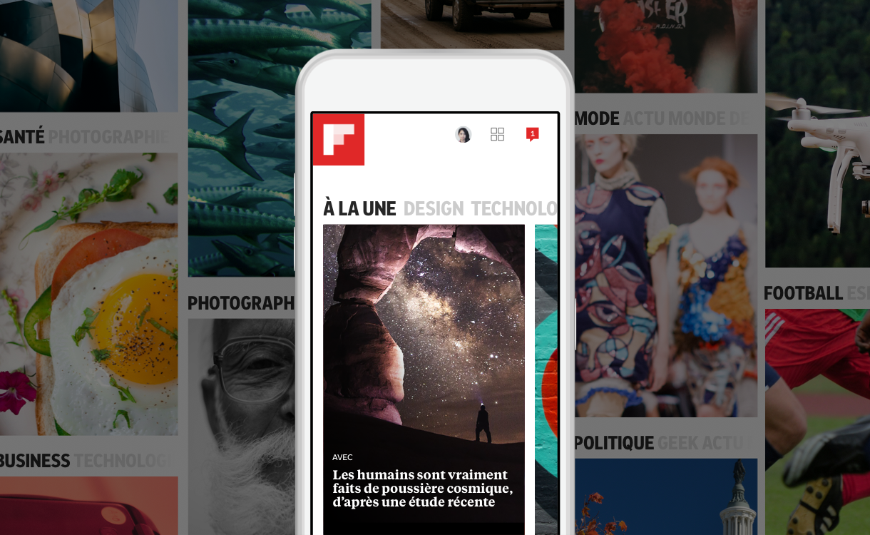 La nouvelle édition de Flipboard s'organise autour de vos centres d'intérêt