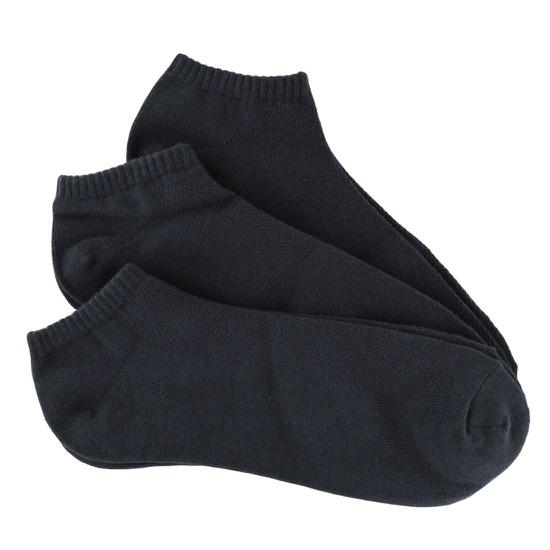 Black Men's Bamboo No-Show Socks 3-Pack