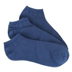Indigo Men's Bamboo No-Show Socks 3-Pack