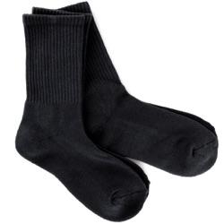 Black Men's Bamboo Crew Socks 2- Pack