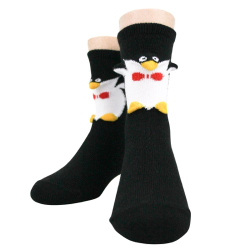 Youth Penguin 3-D sock