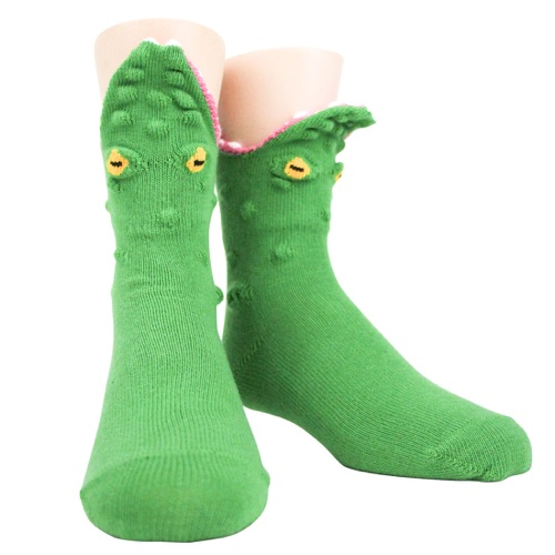 Youth Alligator 3-D sock