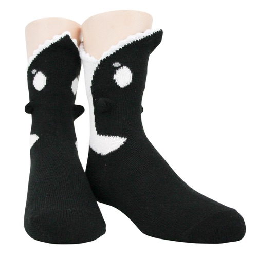 Youth Killer Whale 3-D sock