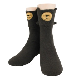 Youth Bear 3-D Sock