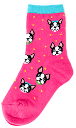 Youth Boston Terrier Socks