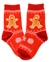 Kids Gingerbread Socks