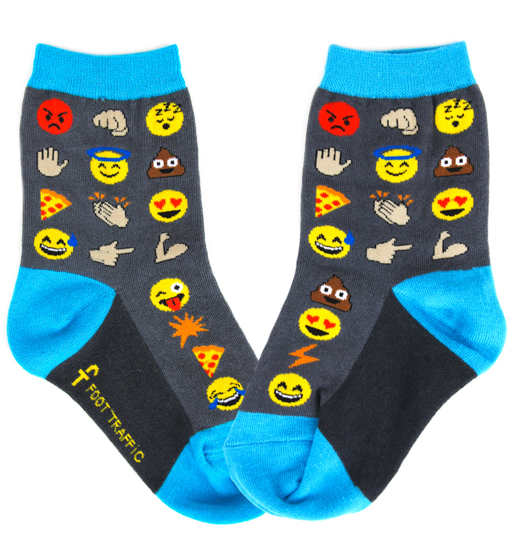 Kids Emoji Socks, Kids: Foot Traffic