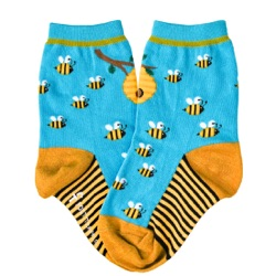honey bees kids socks