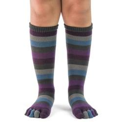 Kids Peacock Stripe Toe Socks