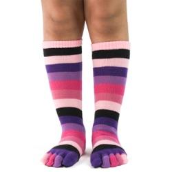Kid's Pink Rainbow Toe Socks