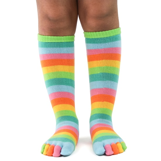 Kid's Citrus Stripe Toe Socks