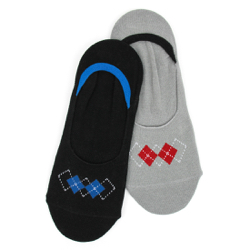 Men's Argyle Low Liners (2 pair pack)