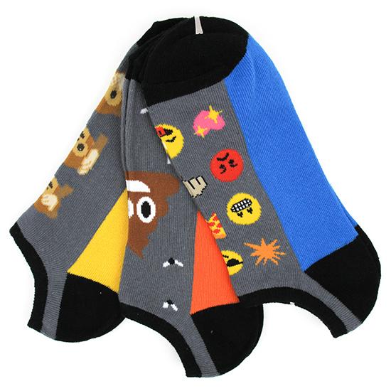 Men's Emoji N o Show 3 Pack