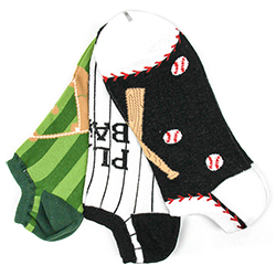 Men's Baseball No-Shows (3 pair pack)
