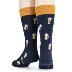 beer steins and mugs mens alcohol socks back view on mannequin