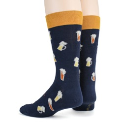 beer steins and mugs mens alcohol socks sideback view on mannequin
