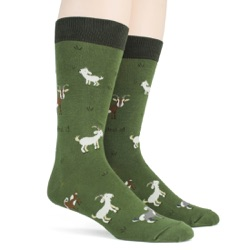 mens goats animal socks sidefront view on mannequin
