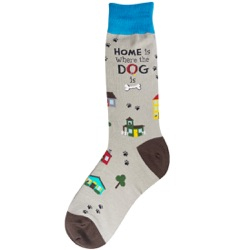 Men's Home Is Where The Dog Is Socks